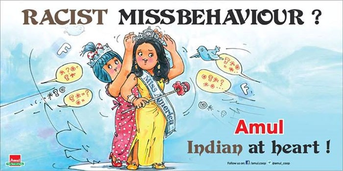 Amul\'s butterly take on Miss America