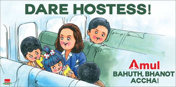 Amul\'s Utterly-Butterly Tribute to 'Dare Hostess\' Neerja
