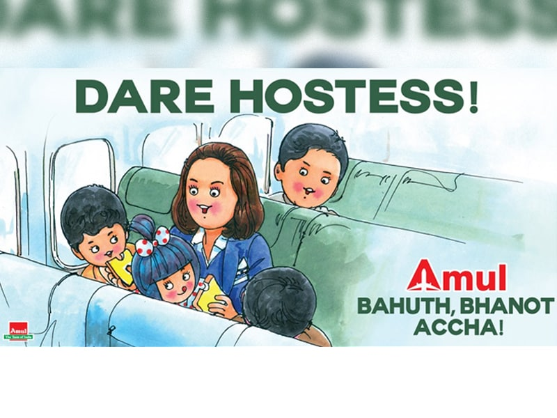 Amul's Utterly-Butterly Tribute to 'Dare Hostess' Neerja