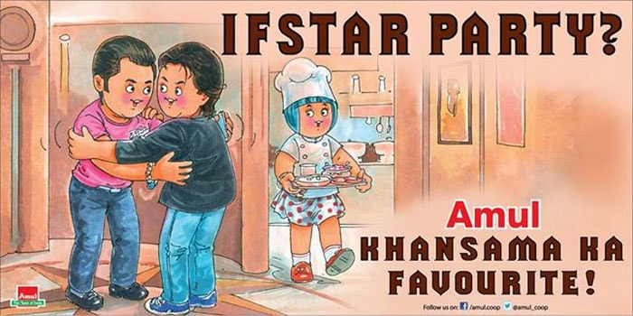 Amul\'s \'If-star\' party for SRK, Salman