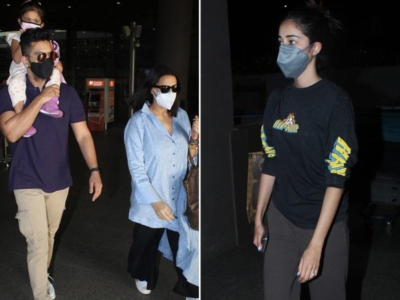 Photo : Ananya Panday And Neha Dhupia's Easy, Breezy Airport Looks