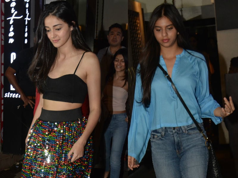 Ananya, Suhana And Shanaya Put On Their Party Shoes