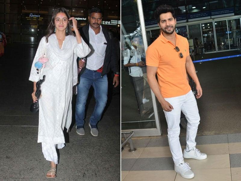 Photo : अनन्या पांडे, वरुण धवन समेत इन स्टार्स को एयरपोर्ट पर किया गया स्पॉट