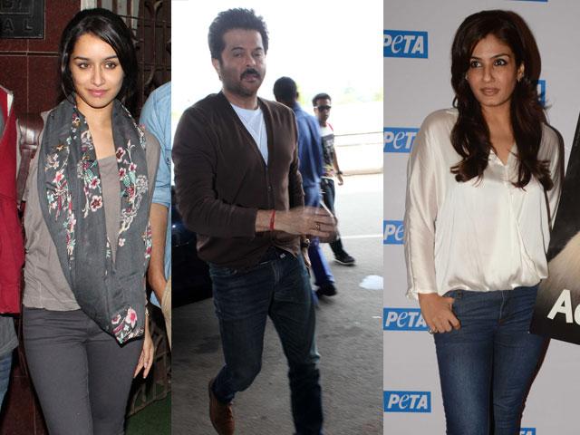 Anil, Raveena, Shraddha's busy Thursday