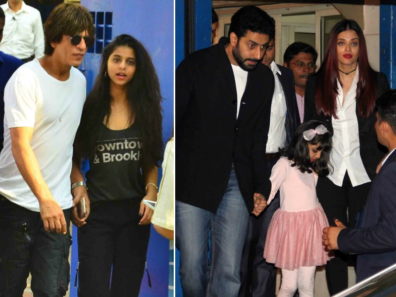 Shah Rukh, Aishwarya, Abhishek Attend AbRam, Aaradhya's School Fest