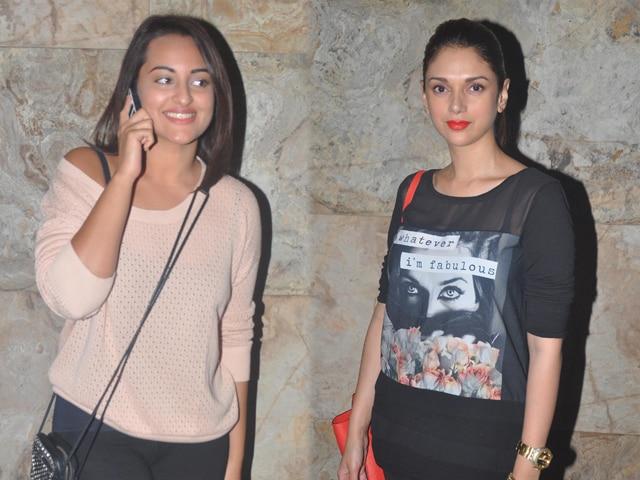 Photo : Gone Girls: Sonakshi Sinha, Aditi Rao Hydari
