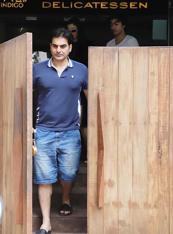 Arbaaz Khan, Giorgia Andriani Take Arhaan On A Lunch Date