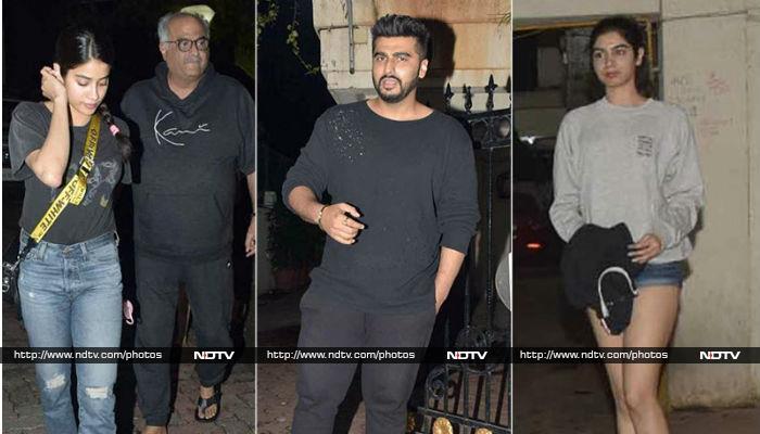 Janhvi And Khushi Celebrate Arjun Kapoor\'s Birthday At Midnight