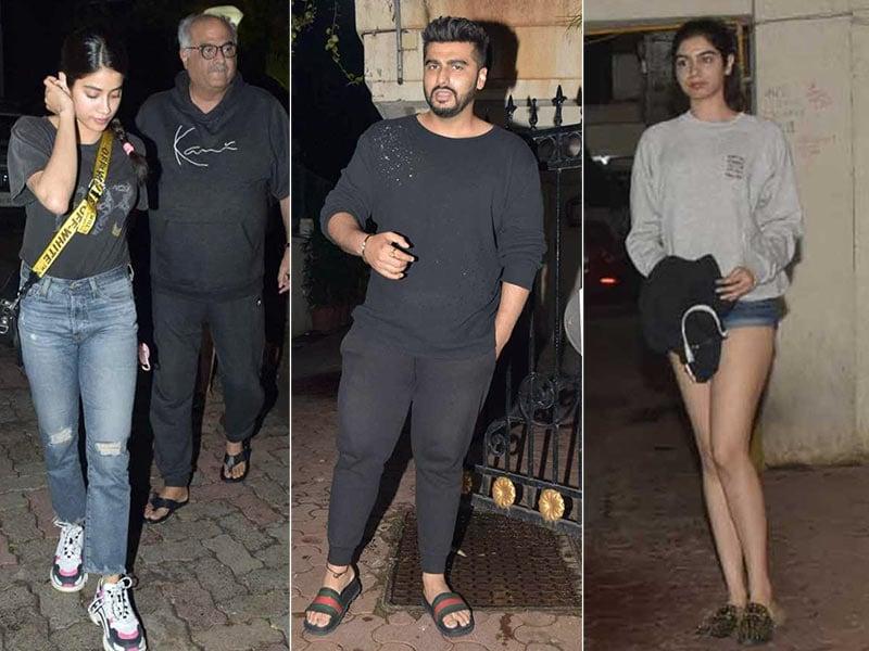 Janhvi And Khushi Celebrate Arjun Kapoor's Birthday At Midnight