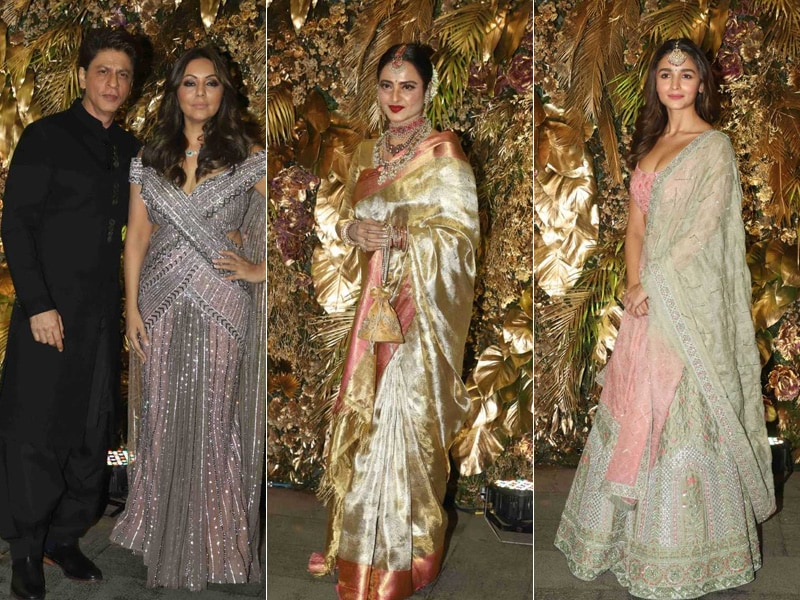 Shah Rukh Khan, Rekha, Alia Bhatt, The Kapoors And Others Add Stardust To Armaan Jain And Anissa Malhotra's Wedding Reception