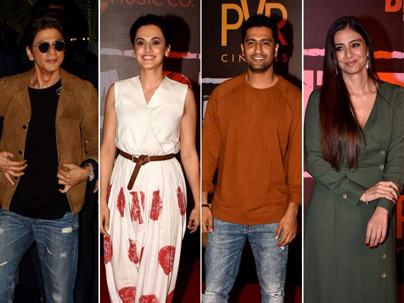 Shah Rukh Khan, Taapsee, Tabu, Vicky Spotted At The Screening Of Article 15