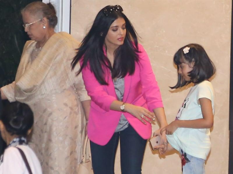 Aishwarya's Dinner Date With Abhishek, Aaradhya And Mom Vrinda Rai