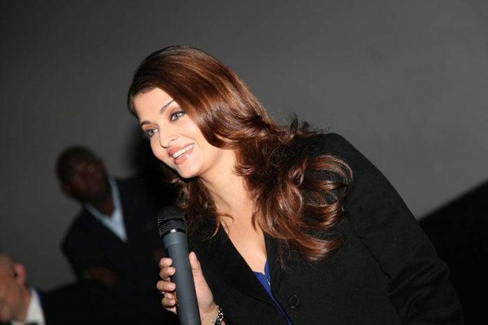 Ash, Abhi at Robot\'s London premiere