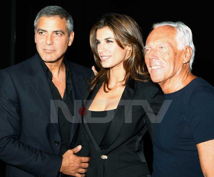 Ash, Abhi at Giorgio Armani show
