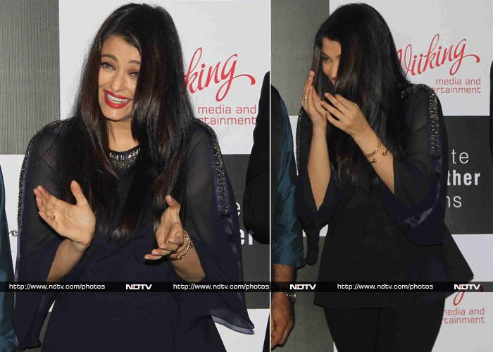 No Angst Here: Aishwarya Launches Jazbaa Song in Fit of Giggles