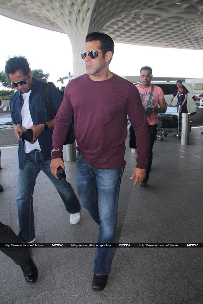 मुंबई एयरपोर्ट पर नजर आए सलमान, आयुष्मान और परिणीति