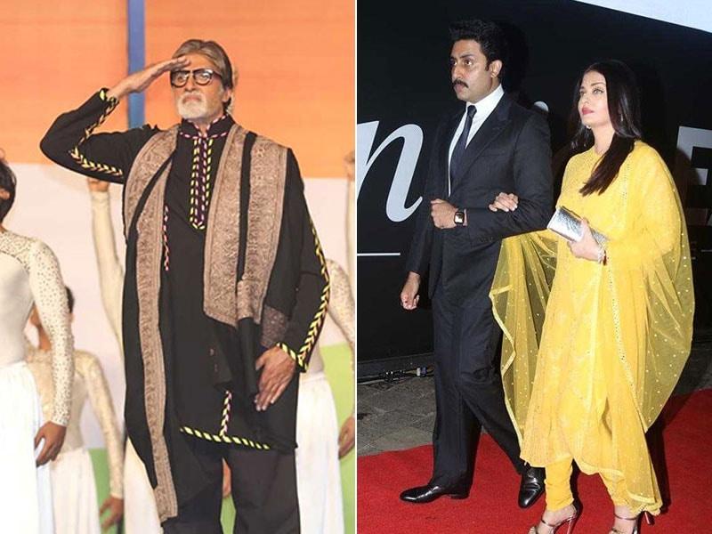 Amitabh Bachchan, Aishwarya, Shweta And Abhishek At 26/11 Concert