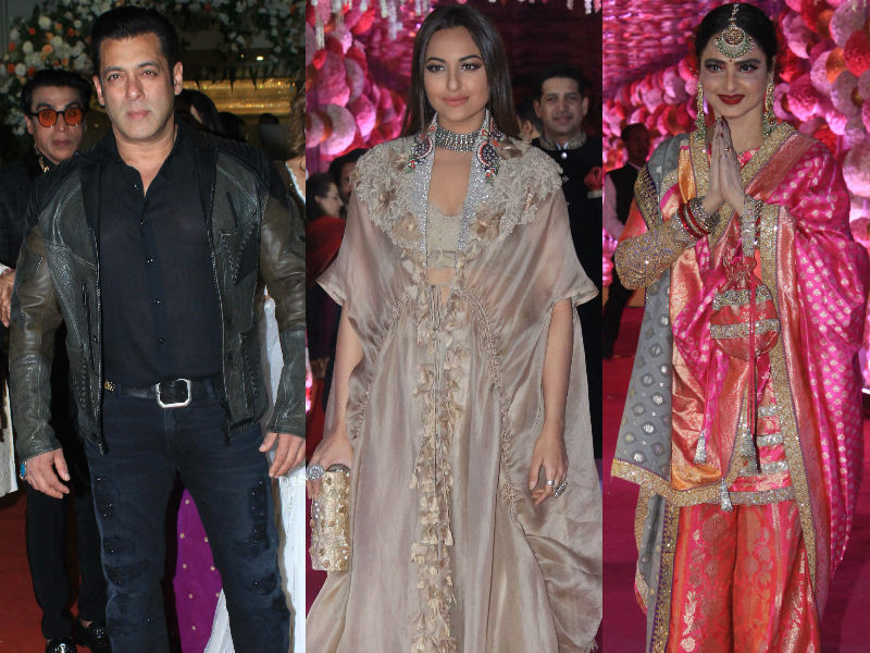 Salman Khan, Sonakshi Sinha, Rekha Add Stardust To Azhar Morani's Wedding