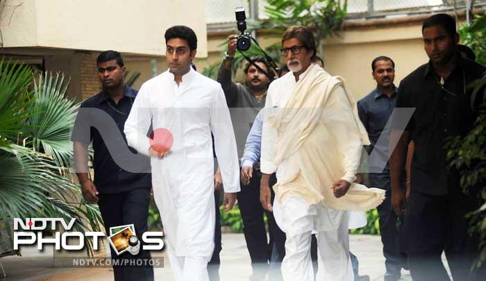 Bachchans address the media