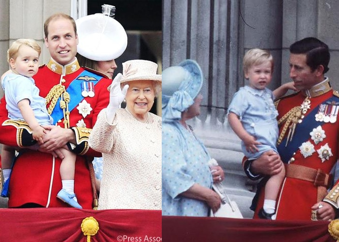 Prince George\'s Kodak Moment With His Royal Family