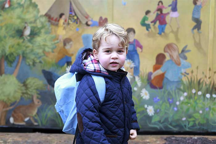 Prince George is a Dashing Little Gentleman on First Day at School