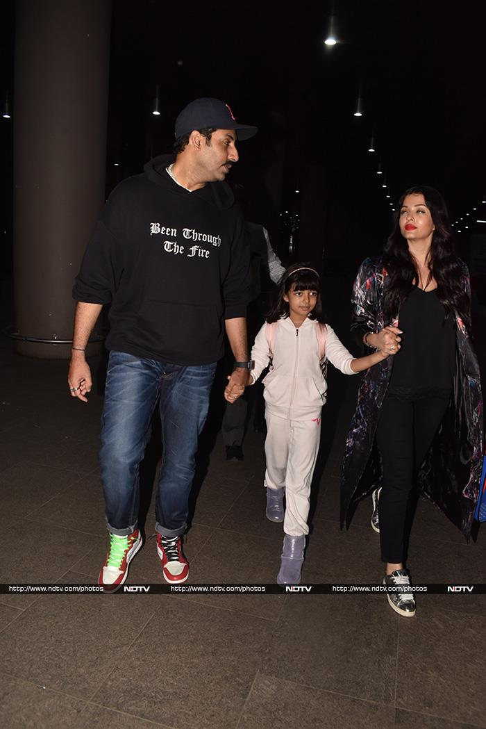 The Bachchans Are Back In The Bay: Aishwarya, Abhishek And Aaradhya At The Airport
