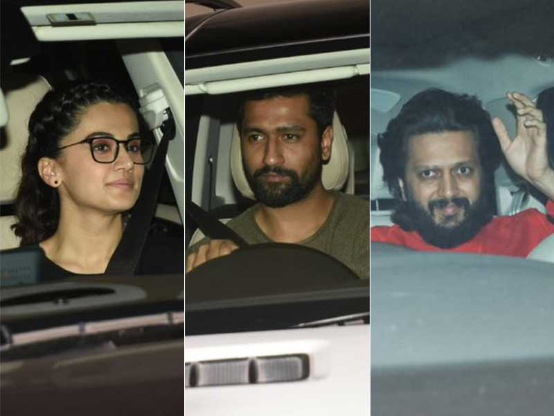 Vicky Kaushal, Riteish Deshmukh Watch Badla With Taapsee Pannu