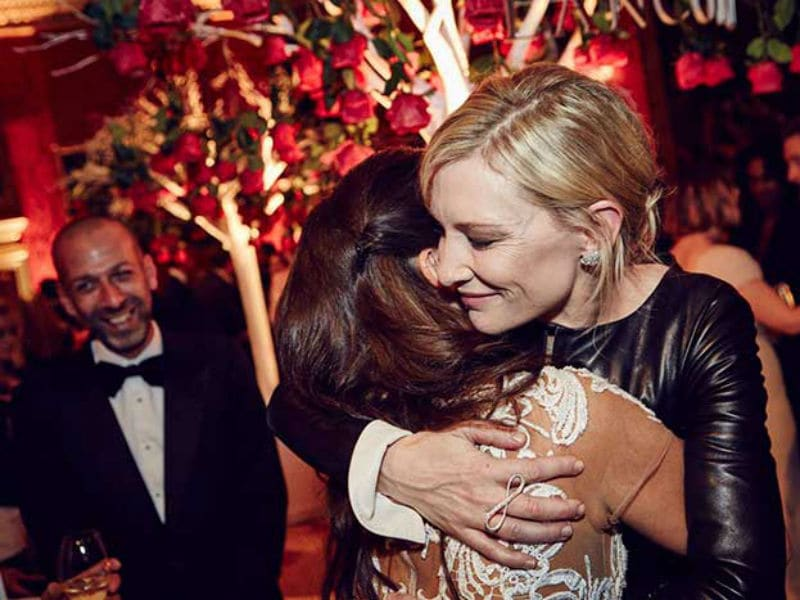 Cate Blanchett, Penelope Cruz at the BAFTA Nominees' Party