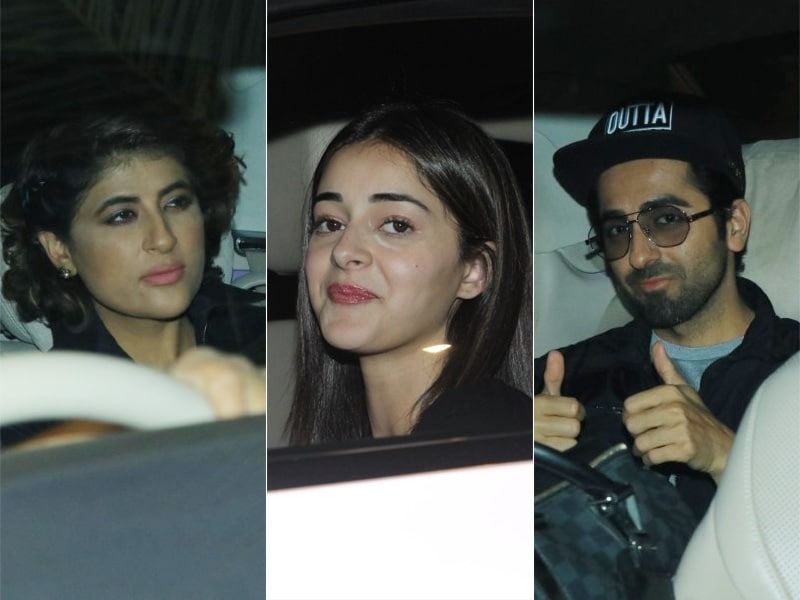Ayushmann, Tahira And Ananya Attend Bhumi Pednekar's House Party