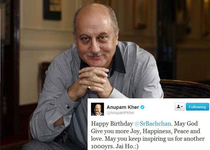 Happy birthday Big B, tweet stars