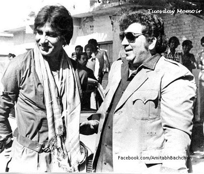 The first day Big B shot after Coolie accident