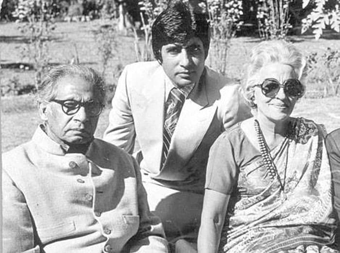 Long, long time ago: Big B with his parents