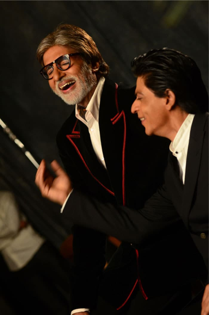 New friends on the blog: Big B, SRK