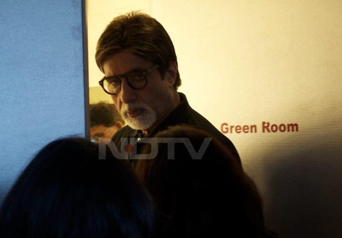 Big B at NDTV