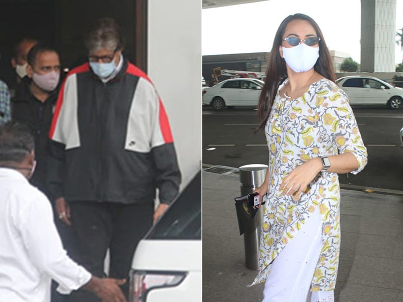 Photo : Airport Tales: Amitabh Bachchan In, Sonakshi Sinha Out