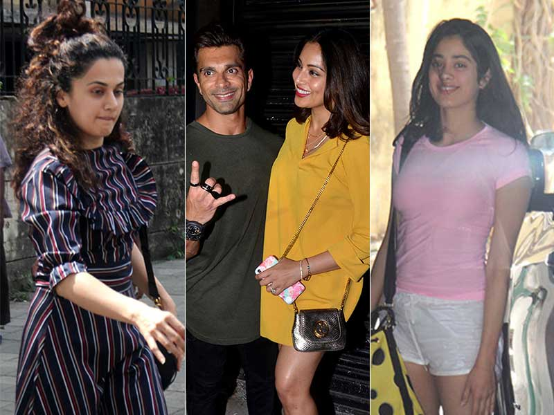 Sneak Peek Into Bipasha, Karan, Janhvi And Taapsee's Weekend Plans