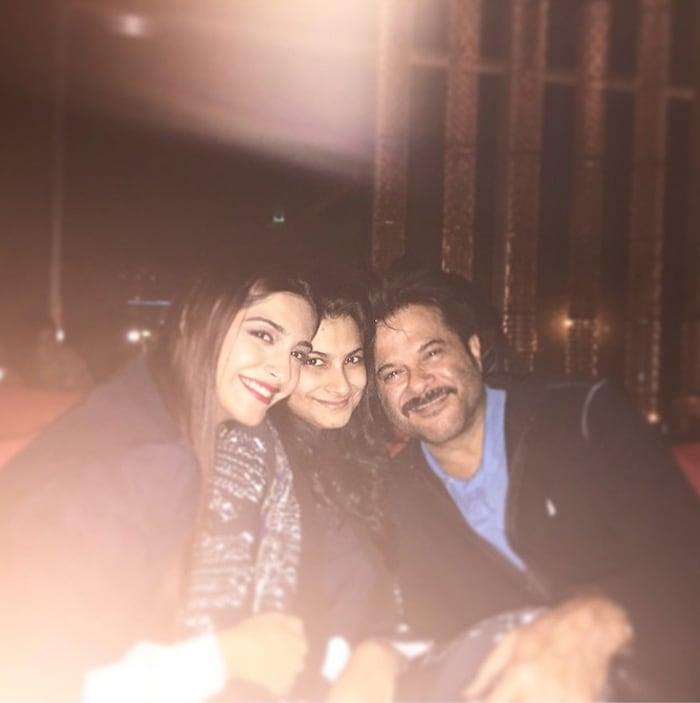 Anil Kapoor Celebrates Birthday With Sonam, Rhea in Dubai