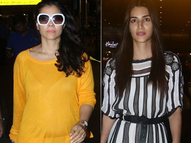 Luka Chuppi At The Airport With Kriti, Kajol And Other Celebs