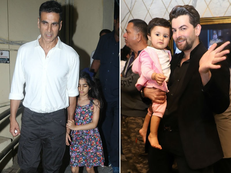 Akshay Kumar-Nitara And Neil Nitin Mukesh-Nurvi's Father-Daughter Movie Night