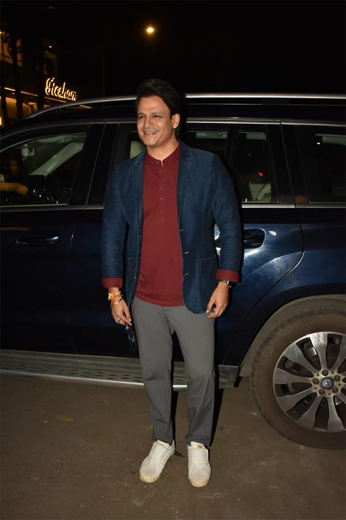 Vivek Oberoi was also snapped at the party.