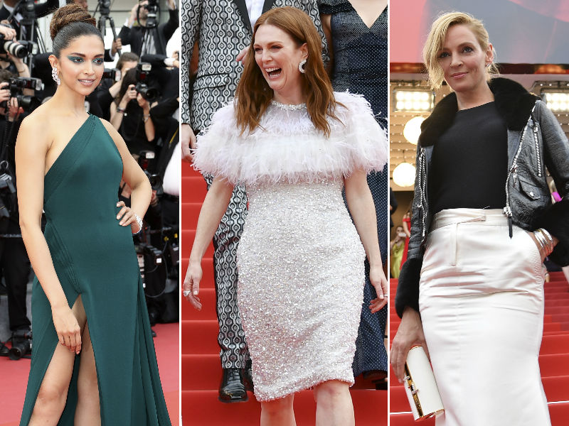 Cannes Day 2: Deepika, Julianne, Uma Thurman Rule The Red Carpet