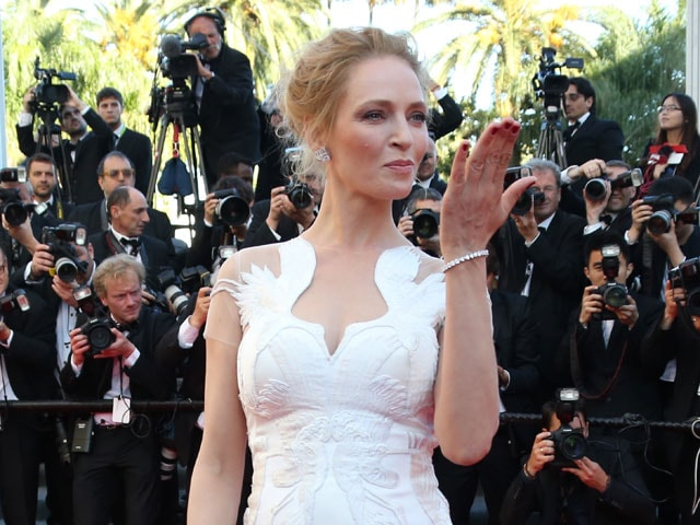 Photo : Cannes Comes to A Close: It's Uma All the Way
