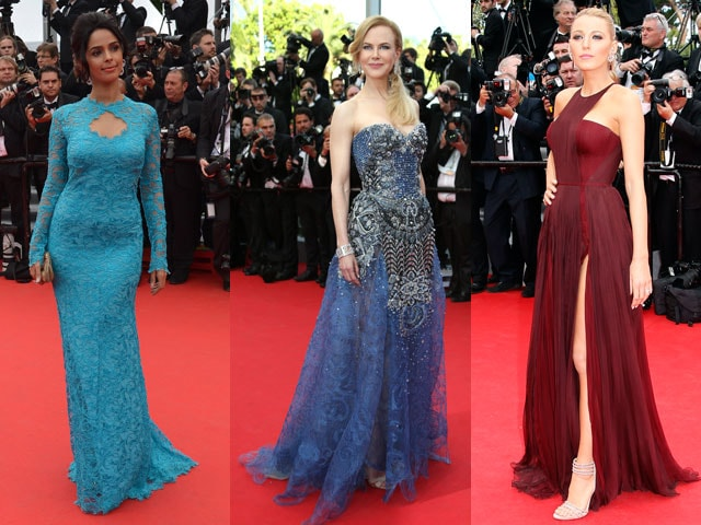 It's Frock o' Clock in Cannes: Mallika, Nicole, Blake