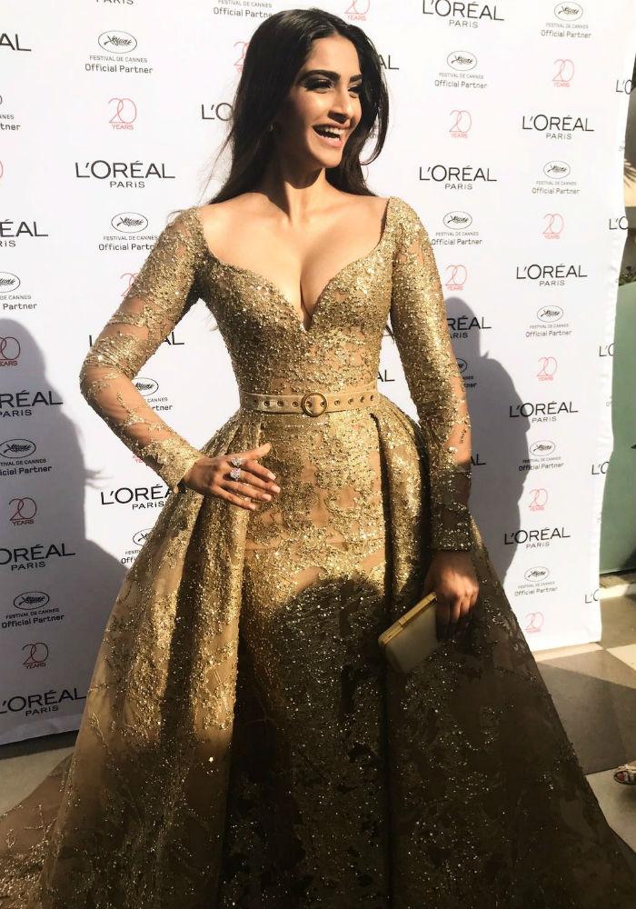 Cannes Film Festival: Sonam Kapoor Dazzles In Gold