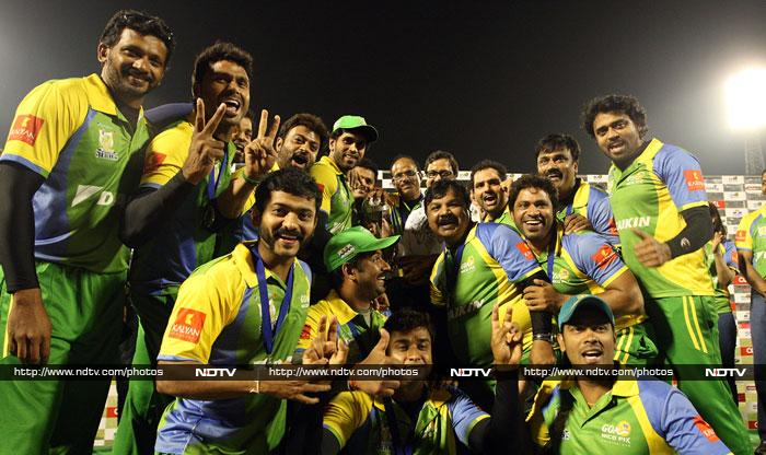 South stars collide on the pitch at Celebrity Cricket League final