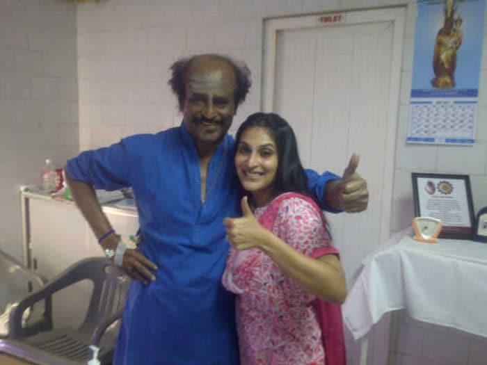 Rajini in hospital