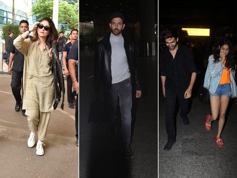 Kareena, Hrithik, Janhvi, Kartik : Happy Faces At A Busy Airport