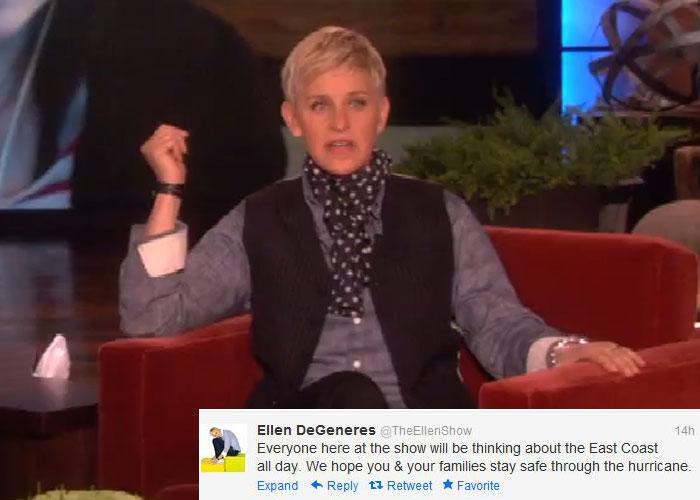 The Sandy effect: Stay safe, tweet celebs