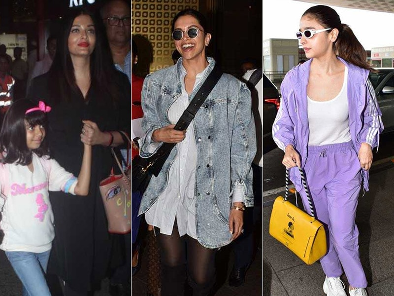 Star-Struck Airport: Aishwarya Rai, Deepika Padukone, Kajol, Alia Bhatt And Others