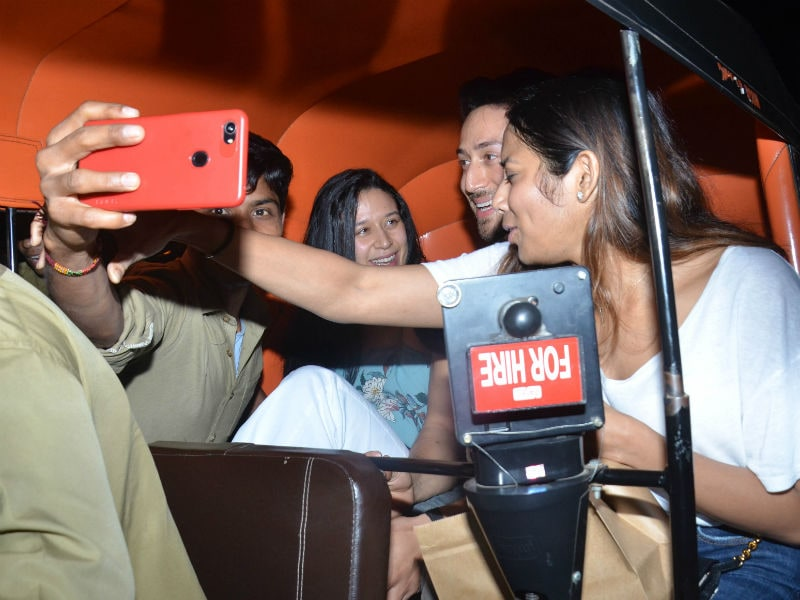 Tiger Shroff's Autorickshaw Ride With Sister Krishna Interrupted By Fans